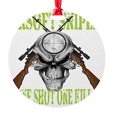 sniper skull Ornament
