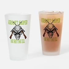 sniper skull Drinking Glass