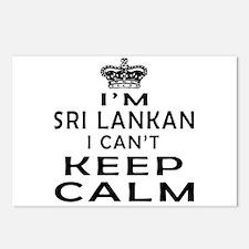 I Am Sri Lankan I Can Not Keep Calm Postcards (Pac