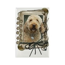 Stone_Paws_GoldenDoodle Rectangle Magnet