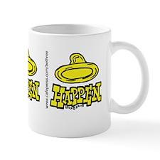 condom_happen_left_yellow_bumper_sticke Mug