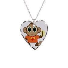 monkey_heart_2000x2000_200dpi Necklace