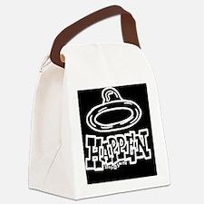 condom_happen_left_BW_clock Canvas Lunch Bag
