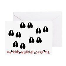 KidWalkHooves Greeting Card