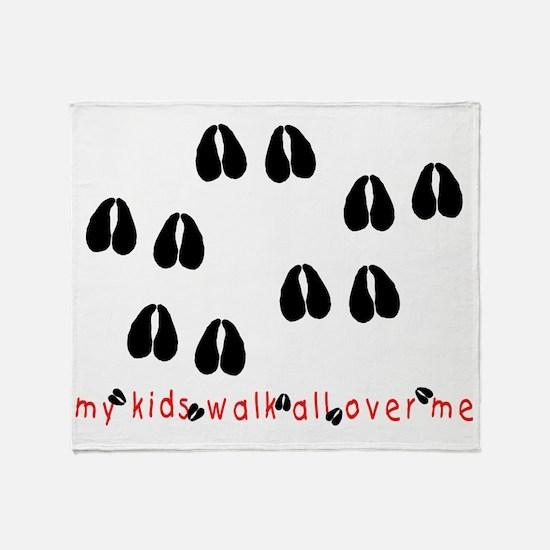 KidWalkHooves Throw Blanket
