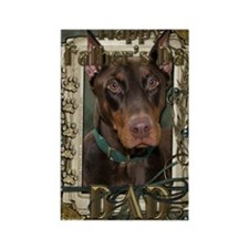 Stone_Paws_Doberman_Dad Rectangle Magnet
