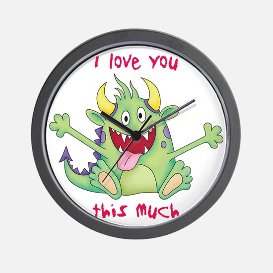 love you this much Wall Clock