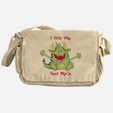 love you this much Messenger Bag