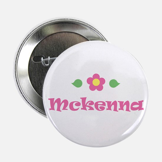 "Pink Daisy - ""Mckenna"" Button"