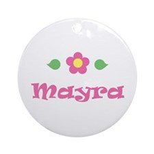 "Pink Daisy - ""Mayra"" Ornament (Round)"
