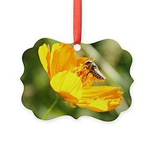 bee in flower 1 Ornament