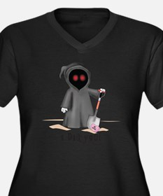 grim reaper  Women's Plus Size Dark V-Neck T-Shirt