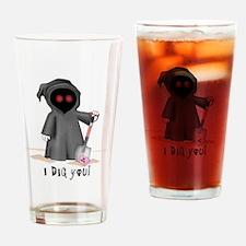 grim reaper valentine Drinking Glass