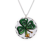 Graffiti Shamrock Necklace