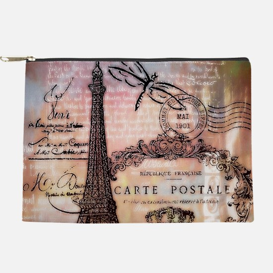 Eiffel tower collage Makeup Pouch