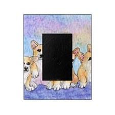 a cuddle of corgis Picture Frame