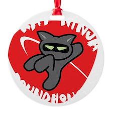 Black-T Kat Ninja Roundhouse Ornament