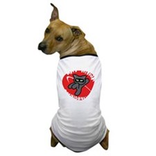 Black-T Kat Ninja Roundhouse Dog T-Shirt
