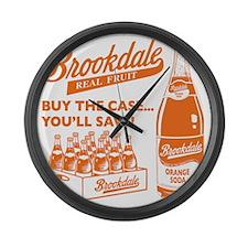 Brookdale Orange one color Large Wall Clock