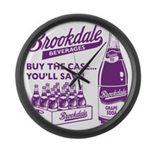 Brookdale Grape one color Large Wall Clock