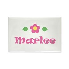 "Pink Daisy - ""Marlee"" Rectangle Magnet"