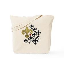 Gold  Black fleur de lis party Tote Bag