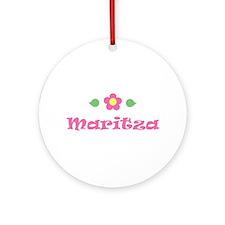 "Pink Daisy - ""Maritza"" Ornament (Round)"