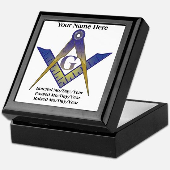 Masonic history Keepsake Box