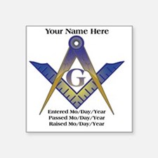 "Masonic history Square Sticker 3"" x 3"""