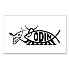 Odin Fish Rectangle Decal