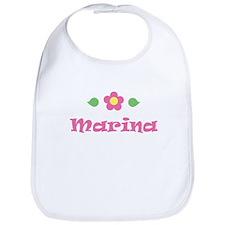 """Pink Daisy - """"Marina"""" Bib"""