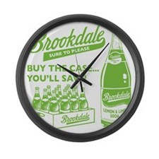 Brookdale Lemon  Lime one color Large Wall Clock