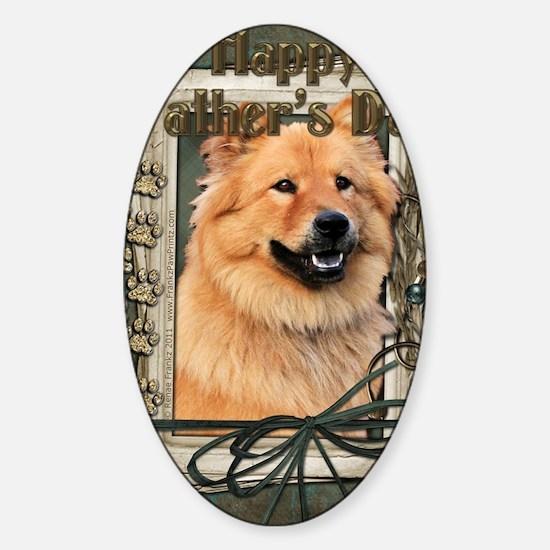Stone_Paws_Chow_Chow_Cinny Sticker (Oval)