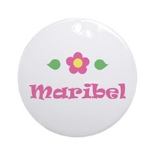 "Pink Daisy - ""Maribel"" Ornament (Round)"