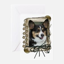 Stone_Paws_Corgi Greeting Card
