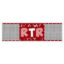 RTR houndstooth Bumper Bumper Sticker