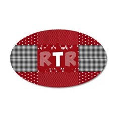 RTR houndstooth Wall Decal