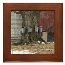Maple Sap Time Framed Tile