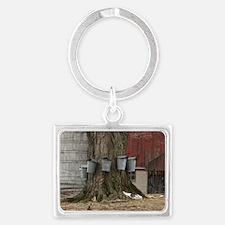 Maple Sap Time Landscape Keychain