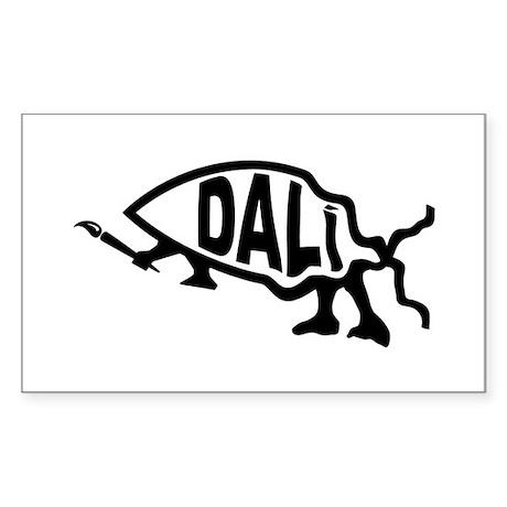 Dali Fish Rectangle Sticker