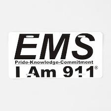 EMS-IAm Pride know ital bla Aluminum License Plate
