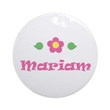 "Pink Daisy - ""Mariam"" Ornament (Round)"