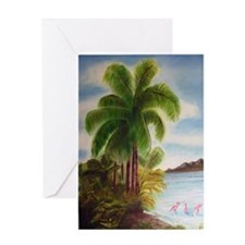 Royal Palm Poster Greeting Card