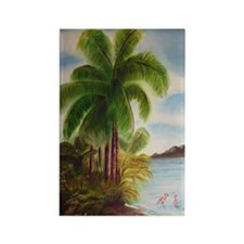 Royal Palm Poster Rectangle Magnet
