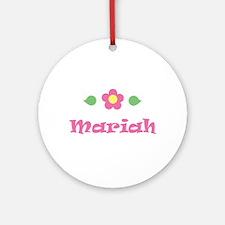 "Pink Daisy - ""Mariah"" Ornament (Round)"