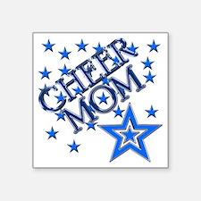 """2-cheer_mom Square Sticker 3"""" x 3"""""""