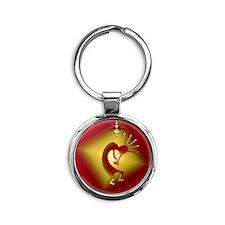 Bronze  Gold Round Keychain