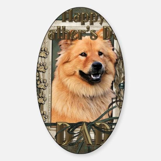 Stone_Paws_Chow_Chow_Cinny_Dad Sticker (Oval)