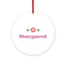 "Pink Daisy - ""Margaret"" Ornament (Round)"