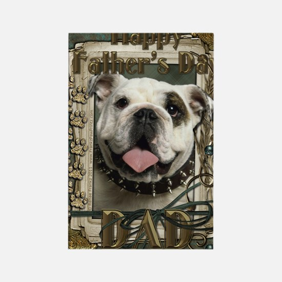 Stone_Paws_Bulldog_Lt_Dad Rectangle Magnet